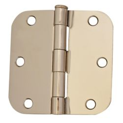 Everbilt 3 1/2-inch Bright Nickel 5/8rd Door Hinge (2-Pack)