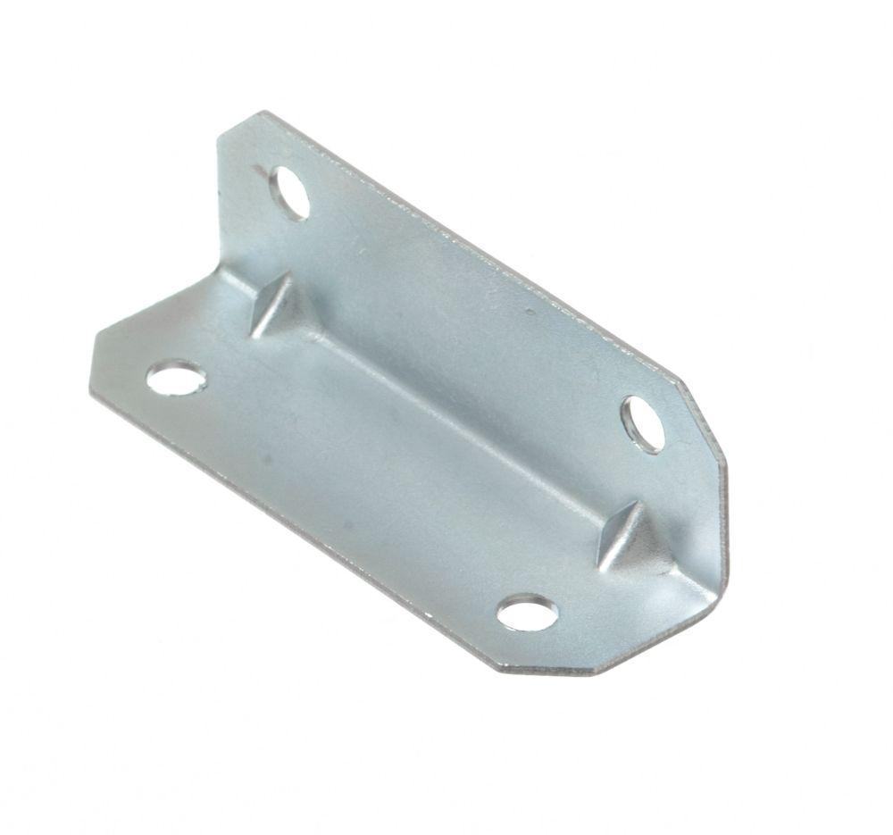 3/4 Inch X2-1/2 Inch  Zinc Furniture Brace 4pk