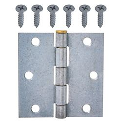 Everbilt 3-Inch Galvanized Superior Rust Resistant Broad Hinge with Brass Pin - 1pk