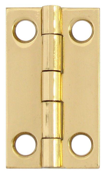 1-1/2 Inch  Solid Brass Narrow Hinge 2pk