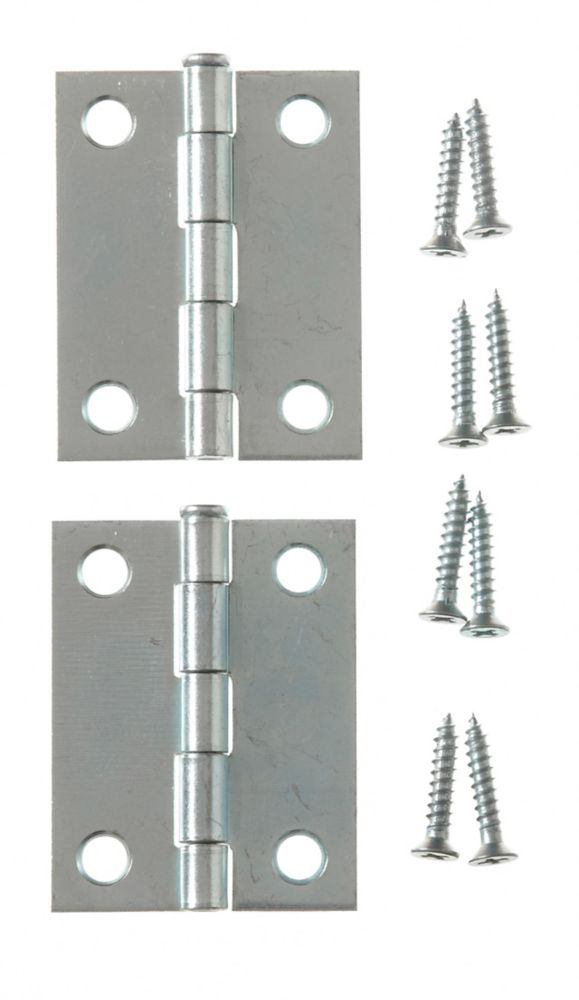 2 Inch  Zinc Narrow Hinge Loose Pin 2pk