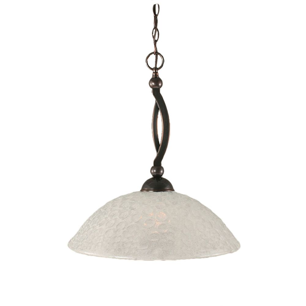 Concord 1-Light Ceiling Black Copper Pendant with a Turtle Glass