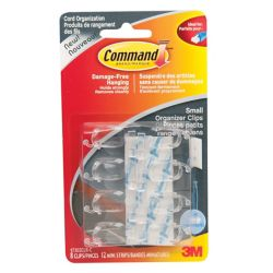 Command Clear Small Cord Organizers with Clear Strips