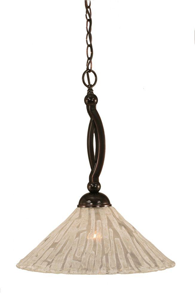 Concord 1 lumière au plafond Noir Copper Pendeloque incandescence par une verre cristal
