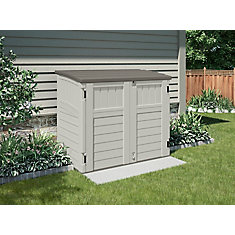Blow-Molded Horizontal Utility Shed - (34 Cu.Ft.)