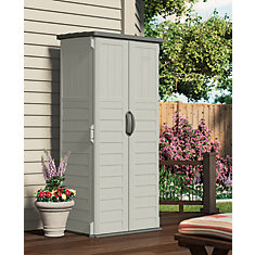 Blow-Molded Vertical Tool Shed - (22 Cu.Ft.)