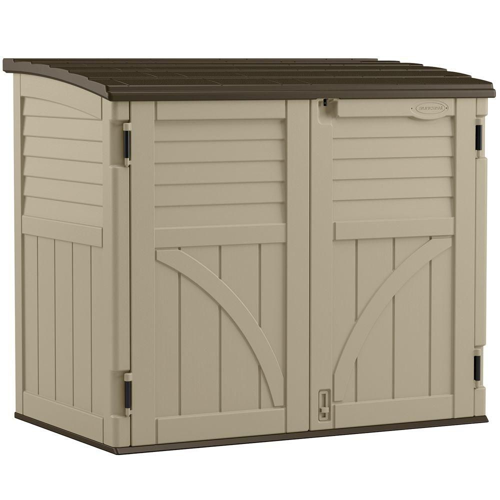 Suncast Horizontal Storage Shed 34 Cu Ft The Home