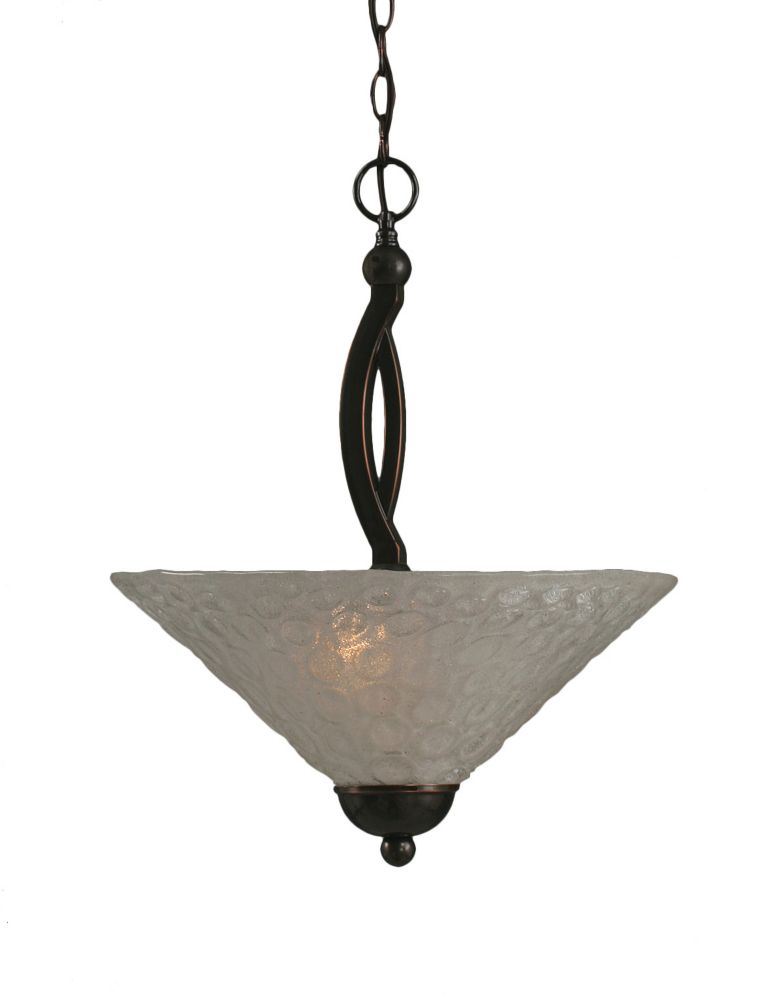 Concord 2-Light Ceiling Black Copper Pendant with a Clear Crystal Glass