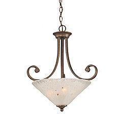 Filament Design Concord 3 lumières plafond Bronze Pendeloque incandescence par une Frosted Crystal