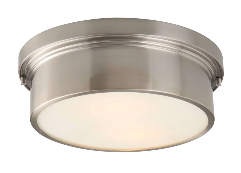 Hampton Bay 2 Light Chrome Bath Light 05659: Hampton Bay Oxnard 2-Light Flush Mount