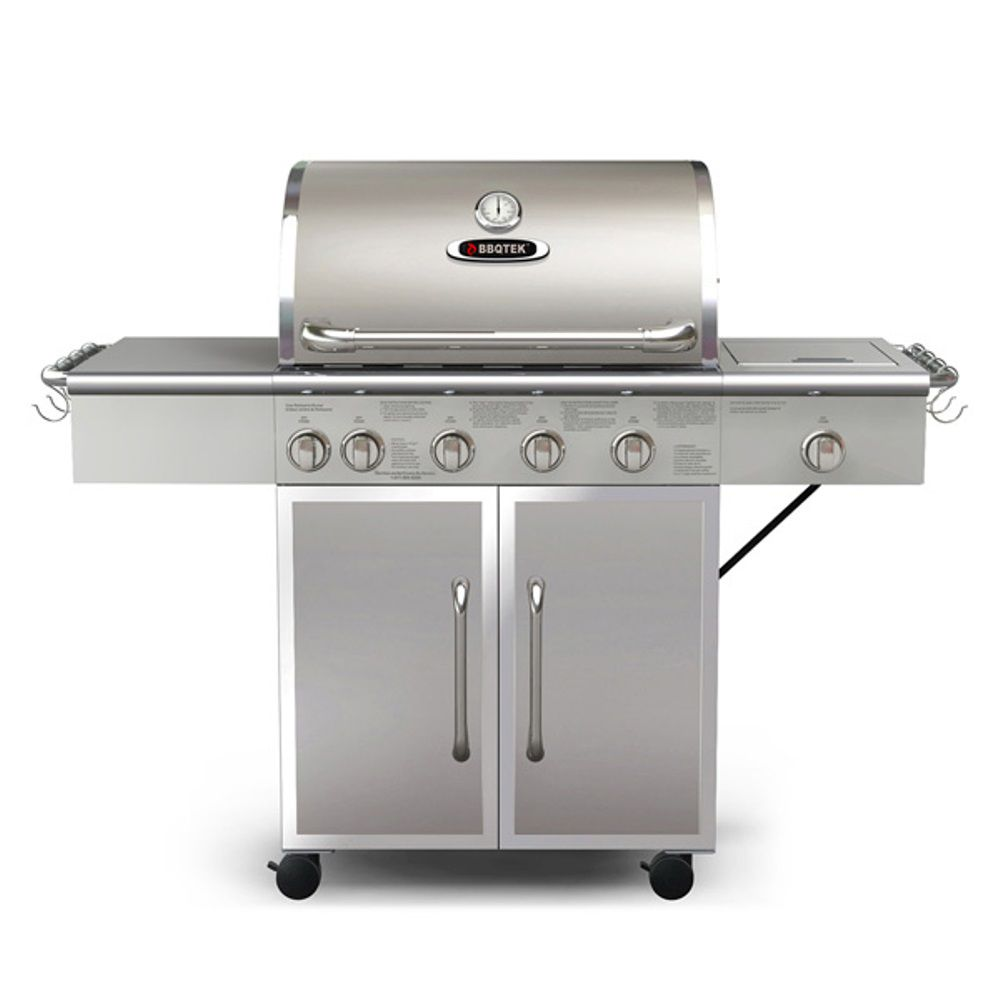 6-Burner Gas BBQ with Rotisserie, Searing and Side Burner