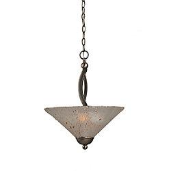Filament Design Concord plafond à 2 lumières, nickel brossé Pendeloque incandescence par une Frosted Crystal