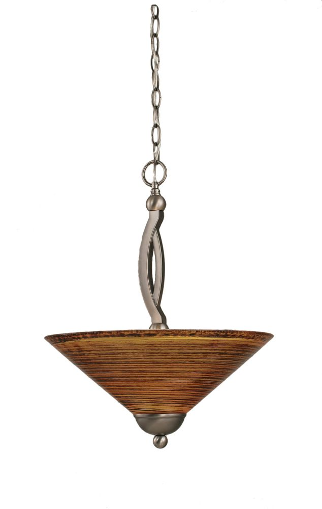 Concord 2 Light Ceiling Brushed Nickel Incandescent Pendant with a Firré Saturn Glass