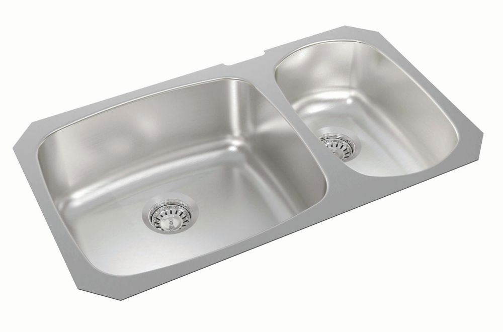 One and a Half Bowl Undermount - 31 Inch x 18 Inch x 8.125 deep WESP201 Canada Discount