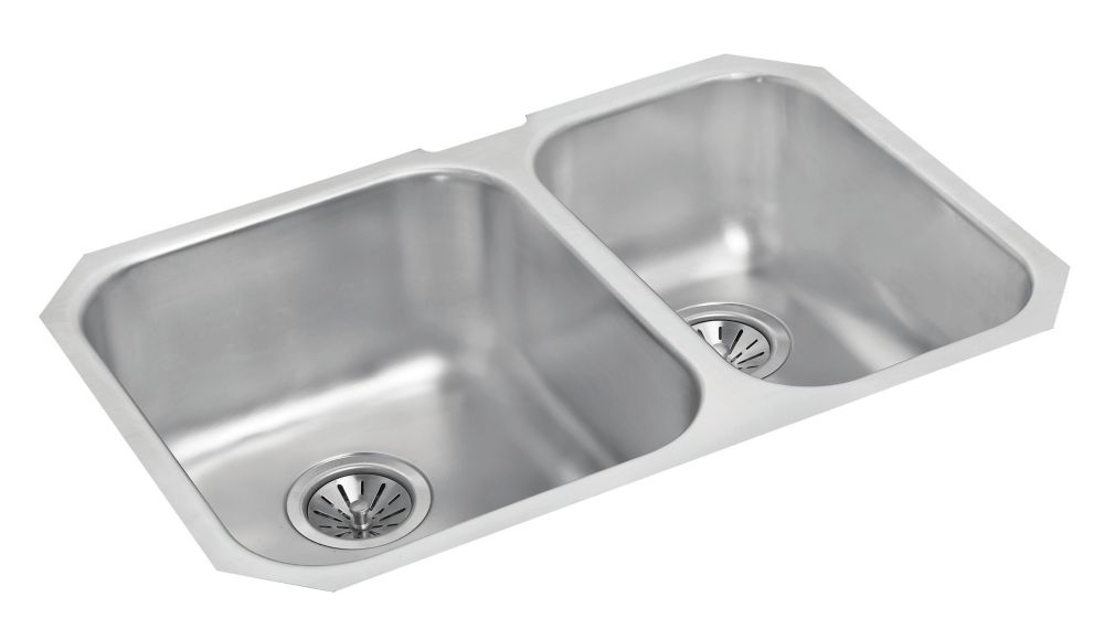 One and a Half Bowl Undermount - 27.125 Inch x 18 Inch x 8 deep