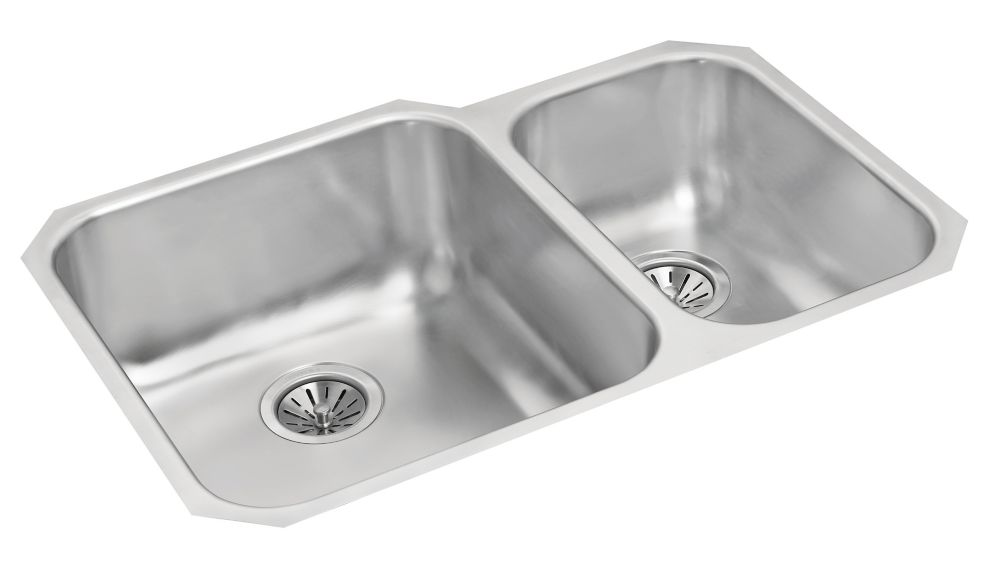 One and a Half Bowl Undermount - 26.875 Inch x 19.75 Inch x 8 deep