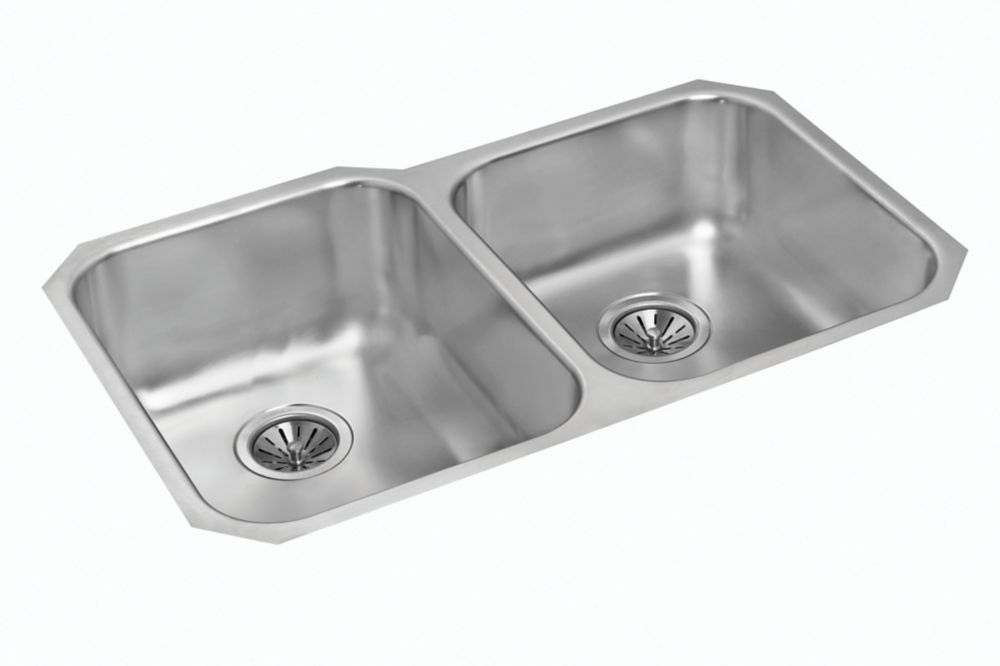 Double Bowl Undermount - 33.125 Inch x 20 Inch x 9 deep