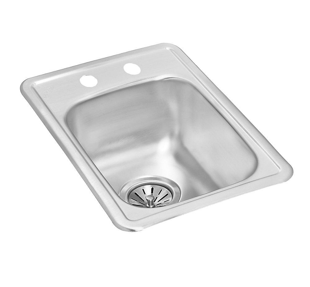Single Bowl Drop-in Bar Sink in Stainless Steel