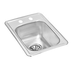 Single Bowl Drop-in Bar Sink in Stainless Steel