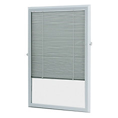 22-inch x 36-inch White Aluminum Add-on Blind for Half View  sc 1 st  The Home Depot Canada : door window inserts - pezcame.com