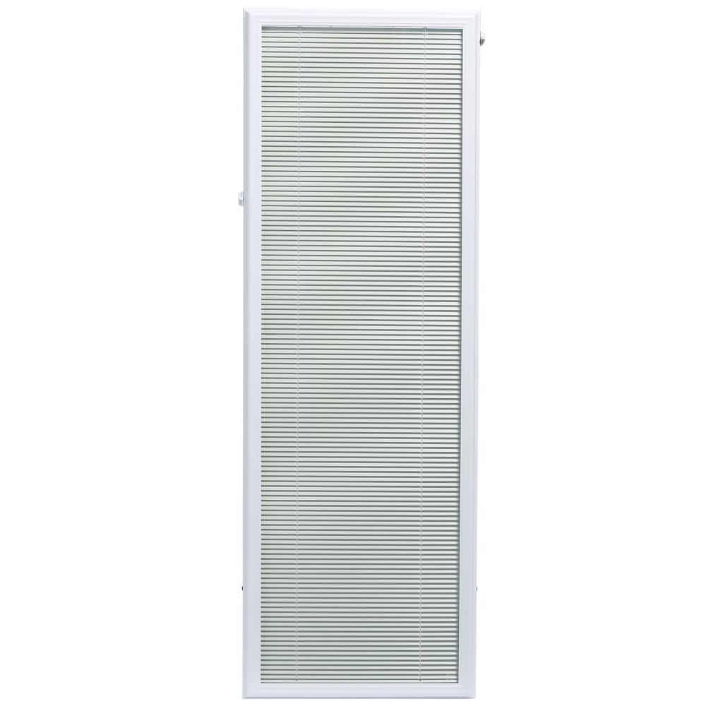 White Aluminum Add-on Blind for Full Light Door 20 Inch x 64 Inch