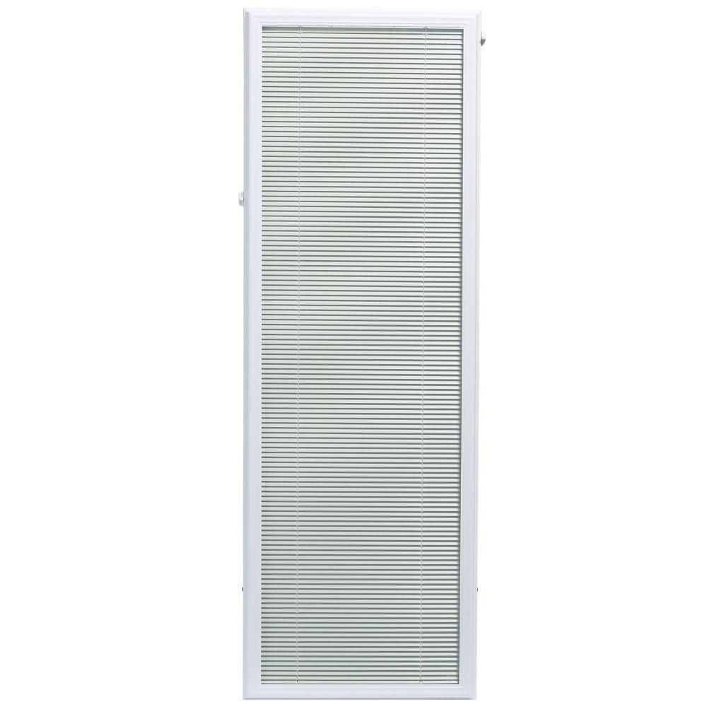 20-inch x 64-inch White Aluminum Add-on Blind for Full Light Door