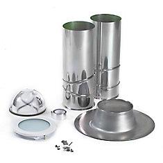 Solin en aluminium de 10 po pour fenêtre de toit tubulaire pour toit en asphalte ou plat - ENERGY STAR®