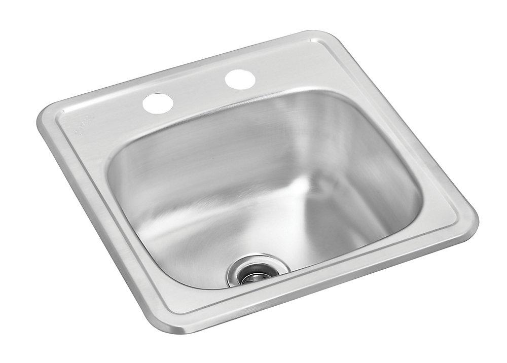 Stainless Steel Single Bowl Drop-in Bar Sink