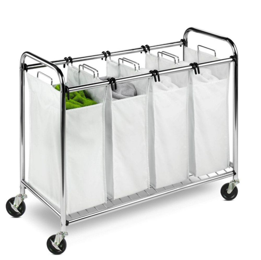 Honey-Can-Do International Heavy-duty Quad sorter, chrome
