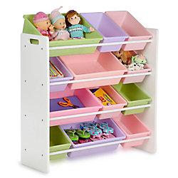 Honey-Can-Do International 12-Bin Storage Organizer in White & Pastels for Kids