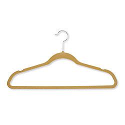 Honey-Can-Do International Velvet Touch Suit Hanger, Tan (20-Pack)