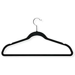 Honey-Can-Do International Velvet Touch Black Suit Hanger (50-Pack)