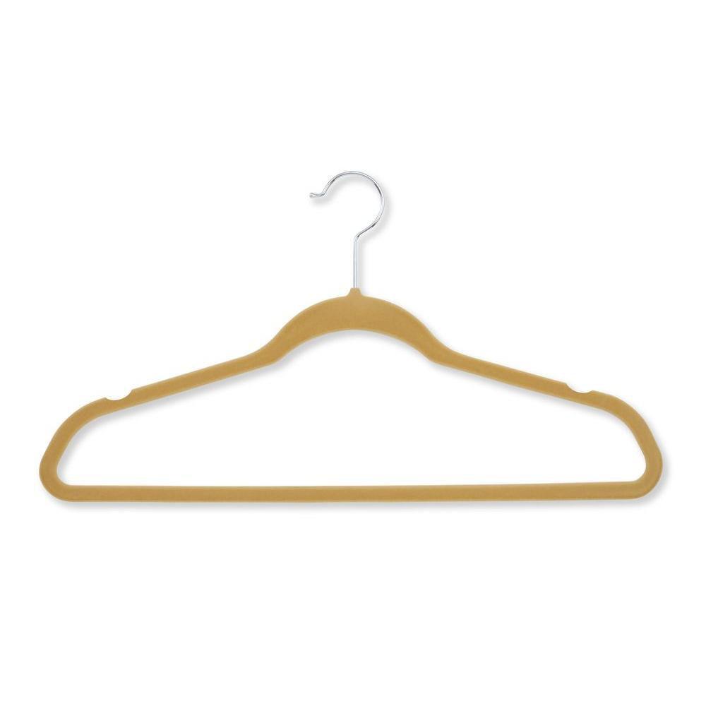 50 Pack Velvet Touch Suit Hanger, Tan