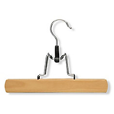 Basic Clamp Pant Hanger in Maple Finish (16-Pack)