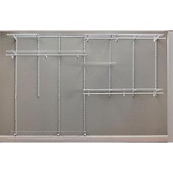 ClosetMaid Kit d'organisateur de garde-robe ShelfTrack de 213,36 à 304,8 cm
