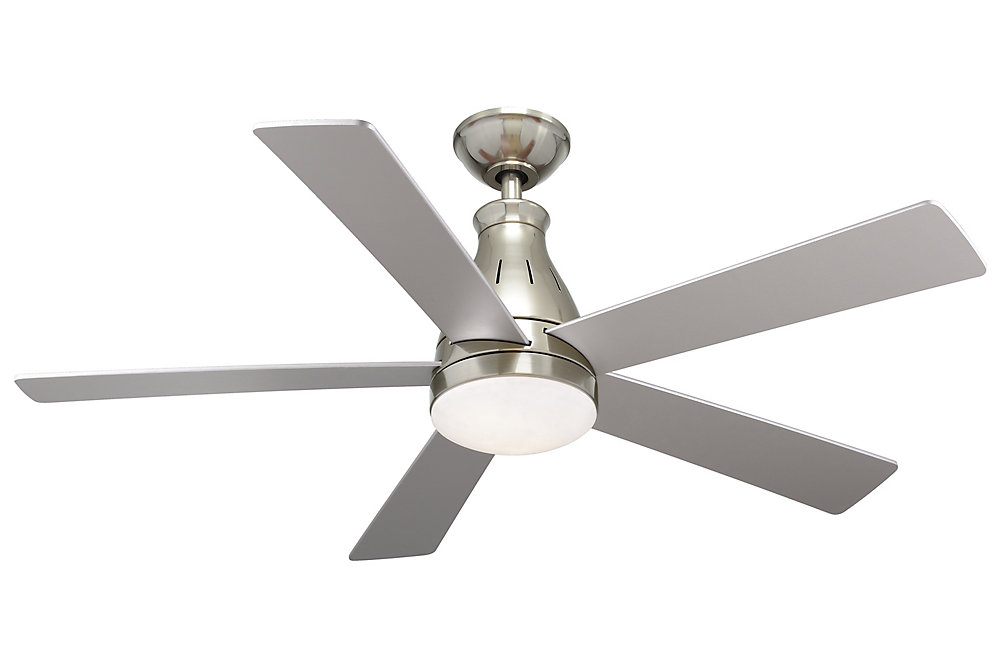 Hampton Bay Cobram 48-inch 5-Blade LED Brushed Nickel