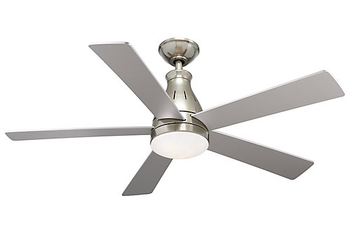 Hampton bay cobram 48 inch 5 blade led indoor ceiling fan in nickel cobram 48 inch 5 blade led indoor ceiling fan in nickel with remote control mozeypictures Gallery