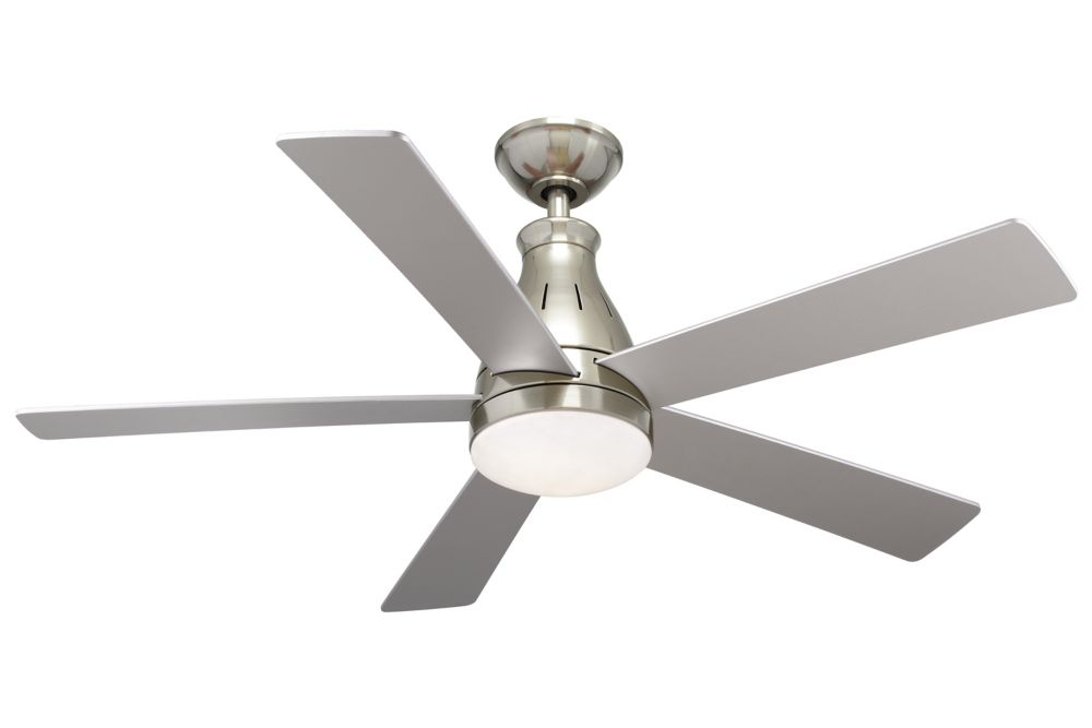 Ceiling fans hampton bay hunter more the home depot canada cobram 48 inch 5 blade led indoor ceiling fan in nickel with remote control aloadofball Image collections