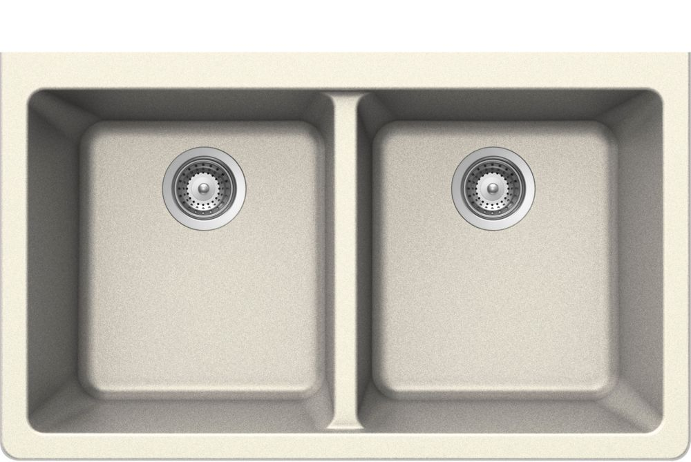 Double Bowl Undermount - 18.5 Inch x 33 Inch x 9.5 deep WESP828 Canada Discount