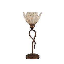 Filament Design Concord 7 en bronze Lampe de table à incandescence avec un cristal en verre d'or