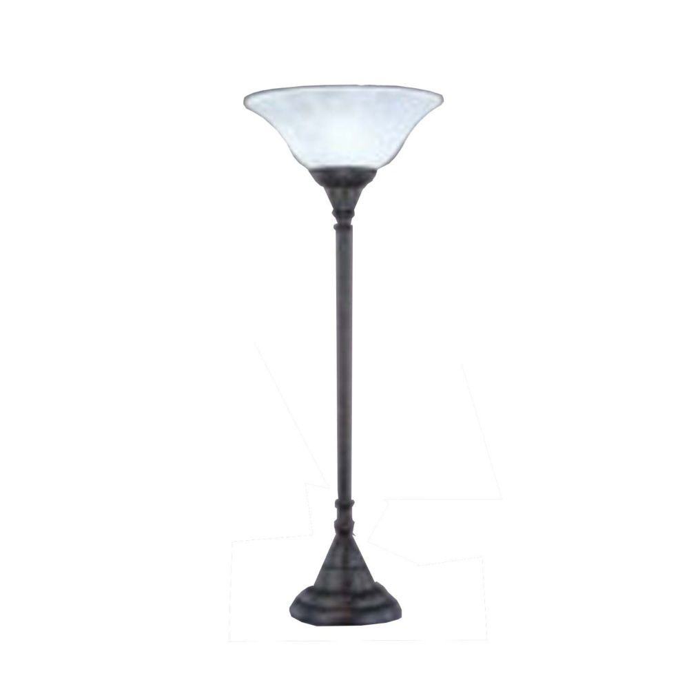 Concord 1325 in Bronze Incandescent Table Lamp with a White Marble Glass