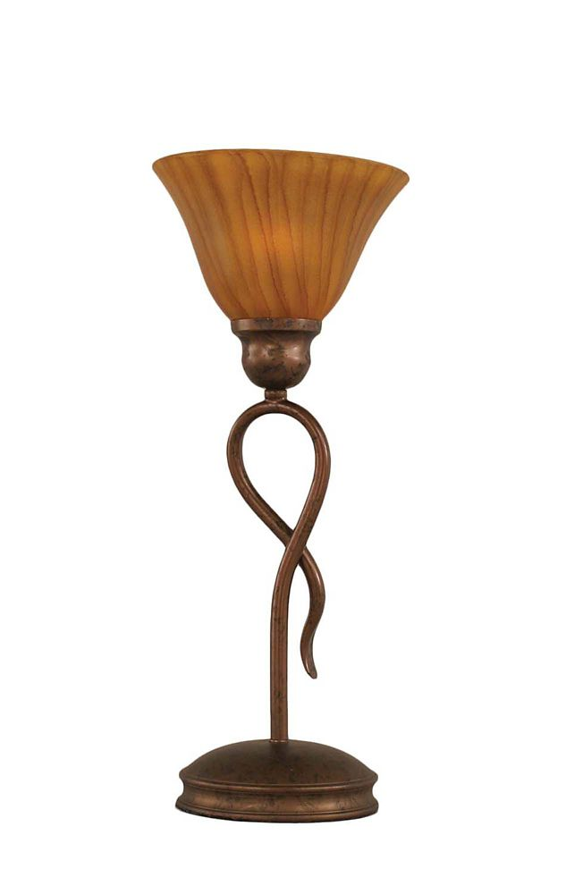 Concord 7 in Bronze Table Lamp with a Tiger Glass