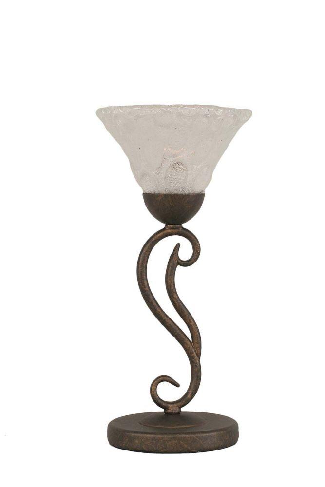 Concord 675 en bronze Lampe de table à incandescence avec un verre cristal