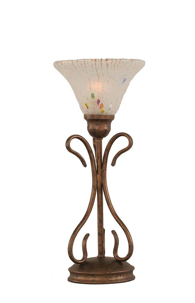 Concord 7 in Bronze Table Lamp with a Frosted Crystal Glass