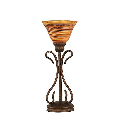 Filament Design Concord 7 in Bronze Table Lamp with a Firré Saturn Glass