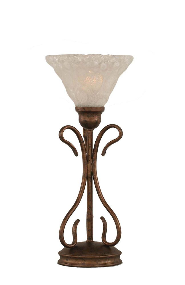 Concord 7 in Bronze Table Lamp with a Clear Crystal Glass