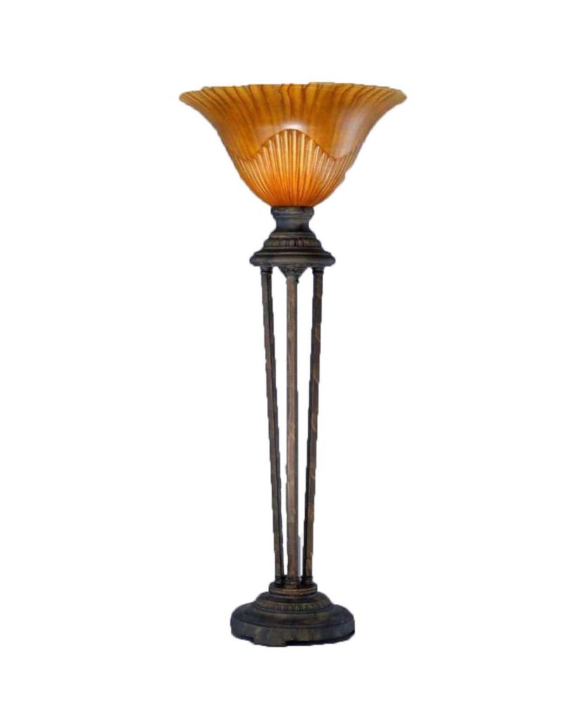 Concord 14 in Bronze Table Lamp with a Tiger Glass