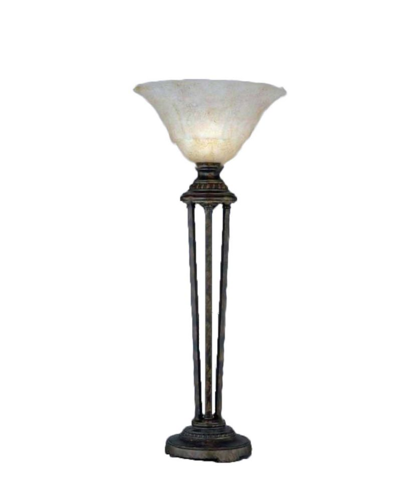 Concord 14 in Bronze Table Lamp with an Italian Marble Glass