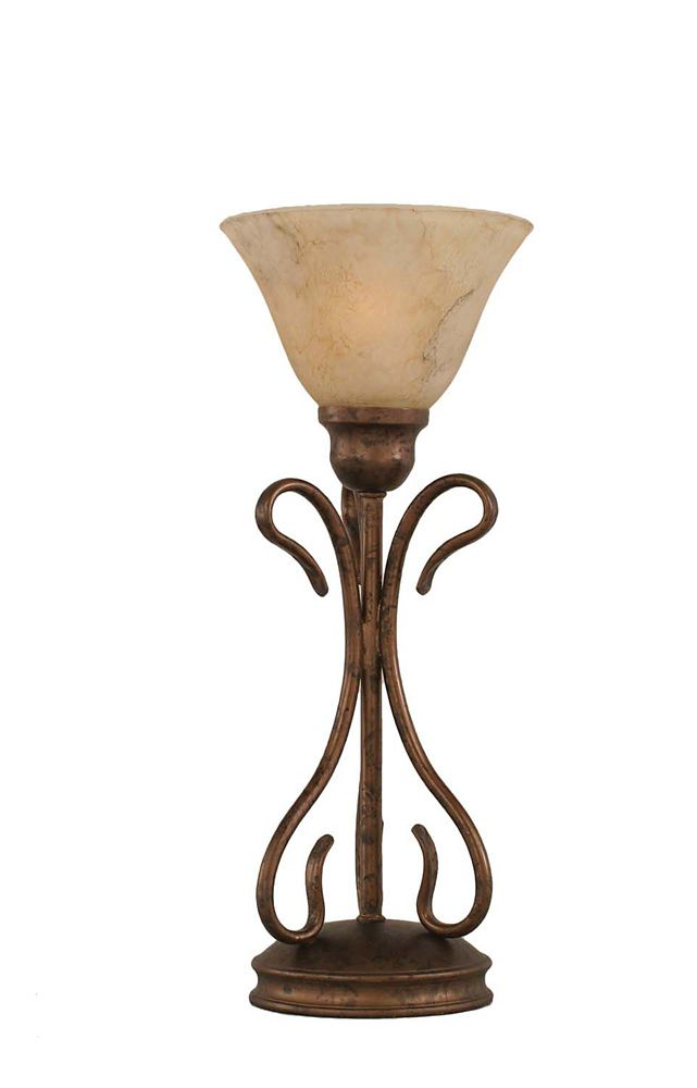 Concord 7 in Bronze Table Lamp with an Italian Marble Glass