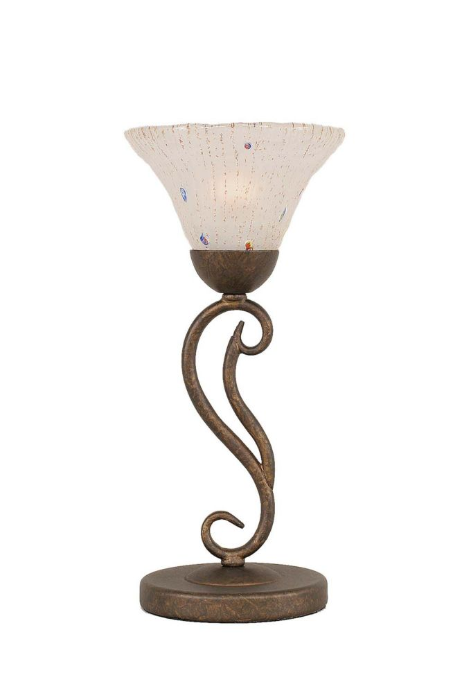 Concord 7 in Bronze Incandescent Table Lamp with a Frosted Crystal Glass